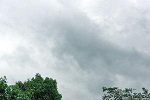 典型的な梅雨空